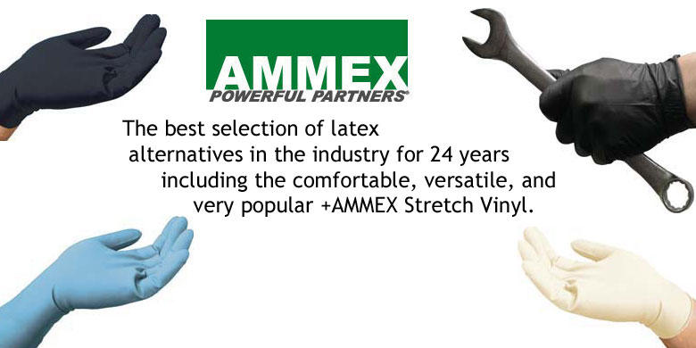 AMMEX Latex and Non-Latex Gloves