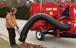 Giant-Vac Self-Contained Gravity Dump Truck Loader
